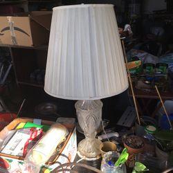 Vintage Crystal Base Lamp for Sale in Hercules,  CA