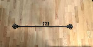 Fleur de Lis Curtain Rod - Solid Cast Iron- Black for Sale in Huntington Beach, CA
