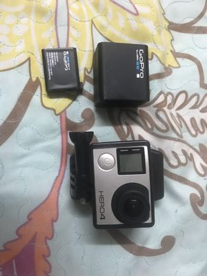 Gopro hero 4 black with extra 2 battery with accessories with a bag for Sale in Daly City, CA