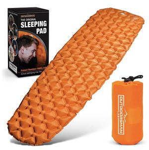 Outdoorsman Lab Sleeping Pad for Camping - Patented Camp Mat, Ultralight - Best Compact Inflatable Air Mattress for Adults & Kids - Lightweight Hikin for Sale in Garden Grove, CA