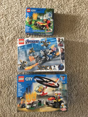 Lego sets , Marvel Captain America and City fire/helit for Sale in Farmington Hills, MI