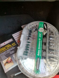 Rotary tool kit and 276 peace accessory kit for Sale in San Angelo,  TX