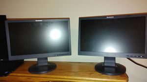 "2 X 19"" Lenovo Monitors for Sale in Seattle, WA"