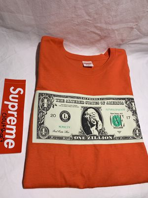 Supreme orange zillion dollar tee size XL for Sale in Hatfield, PA