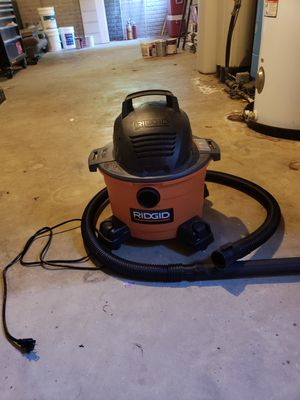 6 gallen Ridgid wet/dry vac pick up only for Sale in Amissville, VA