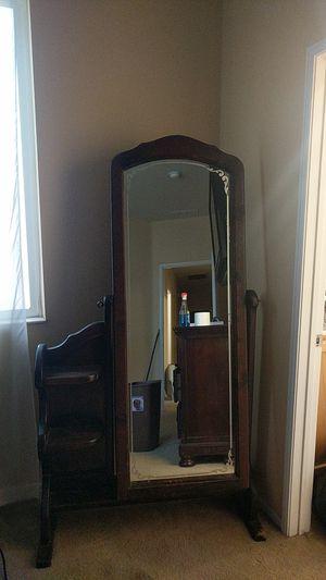 Vintage floor length mirror with shelving for Sale in El Mirage, CA