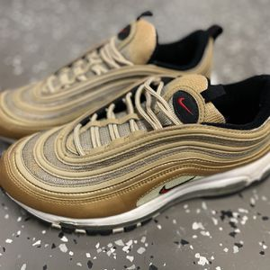 Nike Air Max 97 Metallic Gold Pre Owned for Sale in Port St. Lucie, FL