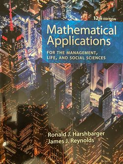 Mathematical Applications For The Management, Life, And Social Sciences for Sale in Albuquerque,  NM