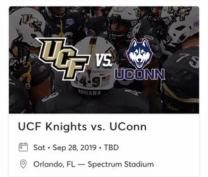 UCF vs UConn Cabana Seats for Sale in Casselberry, FL