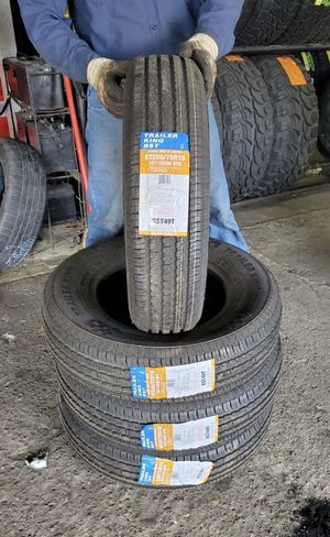 205/75/15 new trailer 8 ply tires for $300 with balance and installation we also finance for Sale in Houston, TX