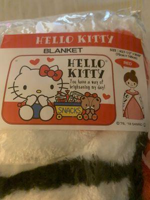 Hello kitty plush blanket shawl for Sale in San Jose, CA