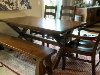 Pottery Barn Dining Table, Bench And Chairs for Sale in Portland,  OR