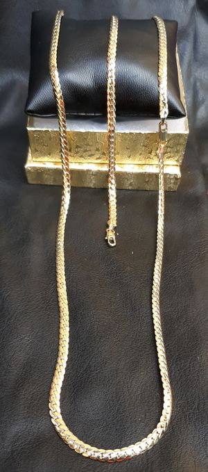 $80.....5mm.....🏌️🤳🏆🤩14k gold-plated cuban link tight curve chain and bracelet.... will not fade or tarnish.... I deliver 🚗💭💭 for Sale in Hollywood, FL