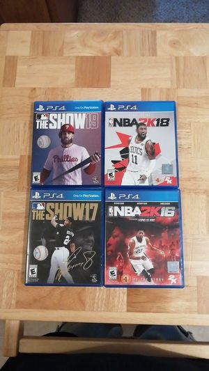 PS4 Games MLB NBA 2K for Sale in Visalia, CA