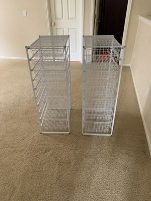 White Elfa Mesh Dressers for Sale in Arvada, CO