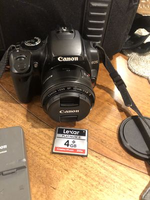 Canon Camera- Rebel XTI for Sale in Adamstown, MD