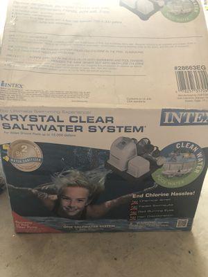 Krystal clear saltwater system for Sale in Sanger, CA