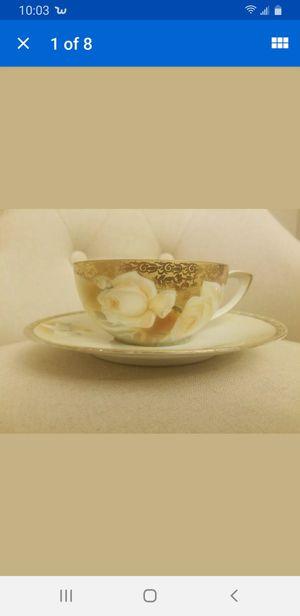 Vintage RS Reinhold Schlegelmich Tillowitz Coffee Cup & Saucer for Sale in Chesapeake, VA
