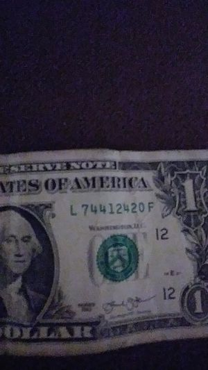One dollar bill ending in 420 for Sale in Kansas City, MO