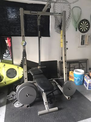 Squat rack, pull down and bench for Sale in Vancouver, WA