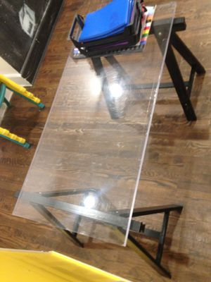 Acrylic table desk for Sale in PECK SLIP, NY