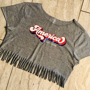Girls Fringe Crop Tee for Sale in Moreno Valley, CA