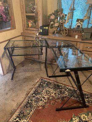 Glass computer desk for Sale in Oakville, WA