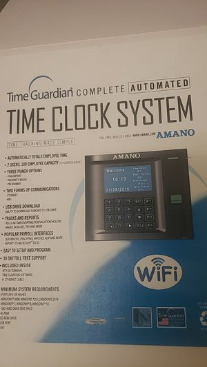 Time clock system biometric terminal for Sale in Gilbert, AZ