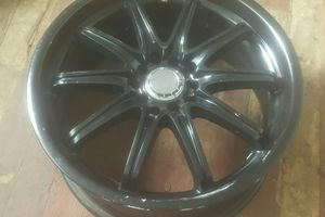 (4) 17INCH BLACK COATED RIMS UNIVERSAL. Minor scratches can be re-coated at Discount Tires for Sale in Oceanside, CA