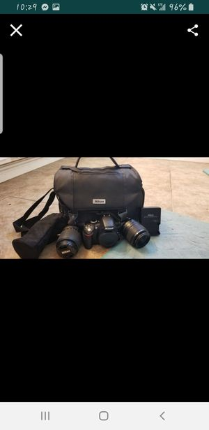 Nikon D3200 with 2 lenses and case. for Sale in San Bernardino, CA