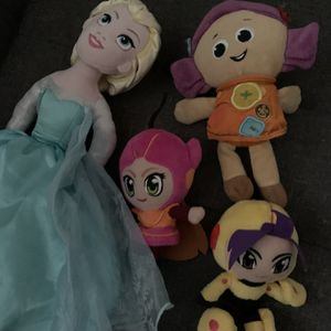 LOT Girls Plush Dolls Anna Elsa Frozen Toy Story More for Sale in Brooklyn, NY