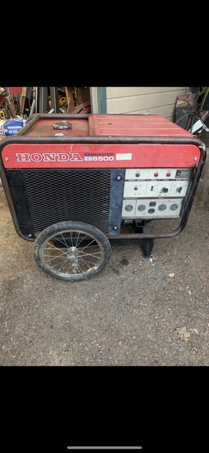 Honda ES6500 generator for Sale in Amity, OR