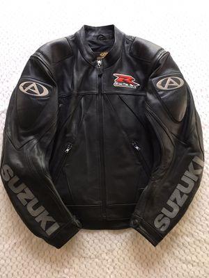 SUZUKI GSX Racing Biker Leather Jacket for Sale in Atlanta, GA