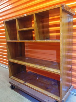 Wood bookcase shelf organizer stand for Sale in Falls Church, VA