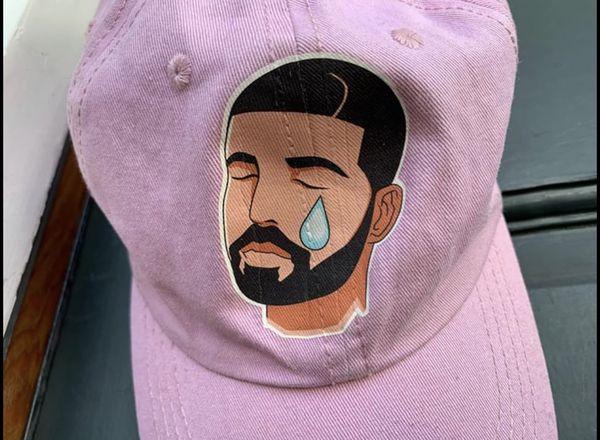 Emo DRAKE Crying hat (hip-hop streetwear)