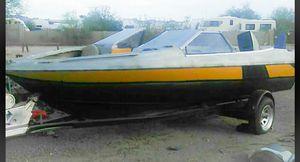 For 18ft Bayliner/custom boat with 18ft custom trailer for Sale in Apache Junction, AZ