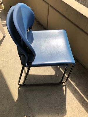 2 Blue Metal Chairs for Sale in Washington, DC