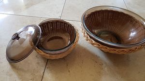 Pyrex 2 brown bowl set for Sale in Irvine, CA