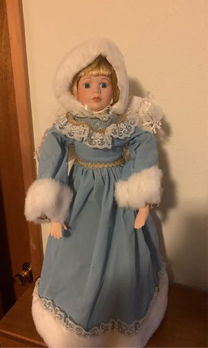 Antique Victorian style Christmas tree topper angel for Sale in Tacoma, WA