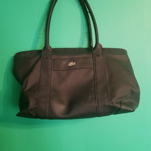 Lacoste Black Tote Bag for Sale in Braintree, MA