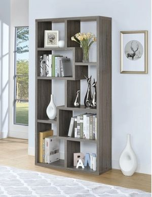 Contemporary Weathered Grey 8-shelf Bookcase for Sale in Pomona, CA