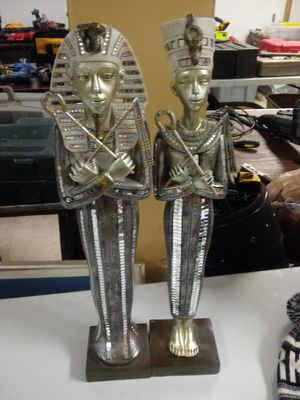 Two Egyptian Statues ( Male and Female) for Sale in Norfolk, VA