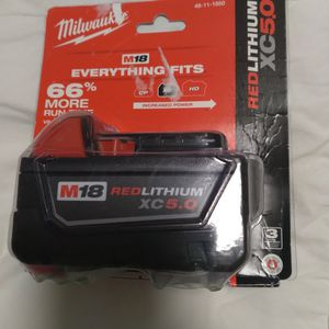 Milwaukee M18 XC 5.0ah Battery for Sale in Portland, OR