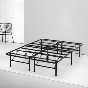 Metal foldable bed frame queen size - like new for Sale in Redmond, WA