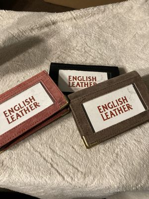 3 English Leather/Suede card holders for Sale in Glen Cove, NY