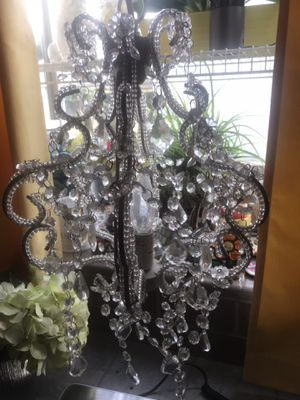 White Chandelier. Single bulb. Hanging. Prewired. for Sale in West Covina, CA