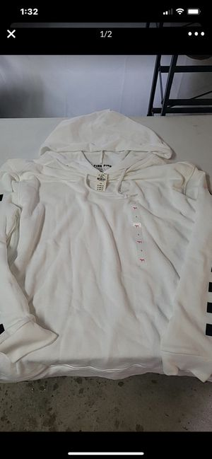Victoria secret pink hooded sweatshirt new with tags size L for Sale in Westminster, CA