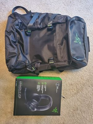 Razer Tactical Laptop Gaming Backpack and Bonus Headset for Sale in Puyallup, WA