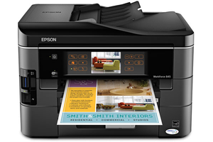 Epson 845 Business Wireless Color 2 Tray Printer Copier Fax Scanner for Sale in Lanham, MD