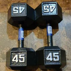 New 45lb Dumbbell 90lb Total for Sale in Tacoma,  WA